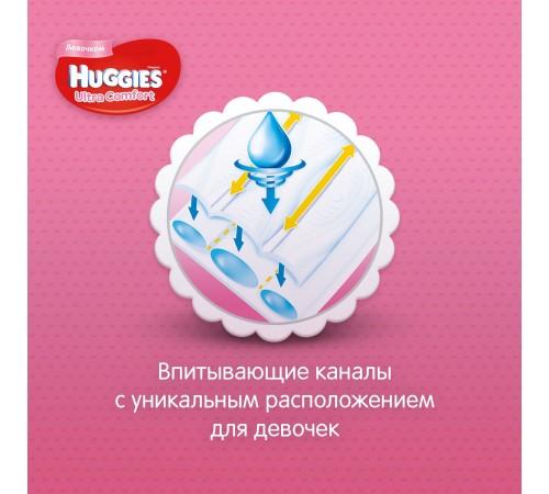 huggies ultra comfort girl 5 (12-22 kg.) 64 buc.