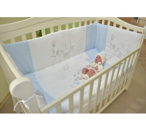 show baby lenjerie de pat my baby teddy (albastru)