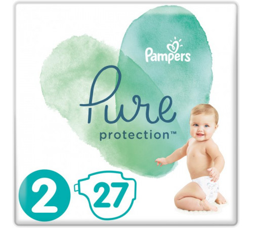 pampers pure protection 2 (4-8 кг.) 27 шт.