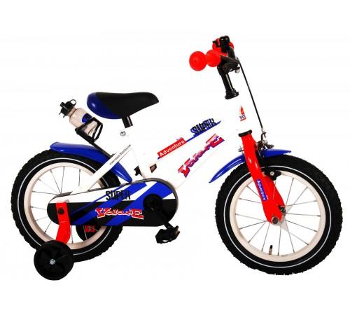 """volare bicicleta """"super white 14""""  91436 alb"""
