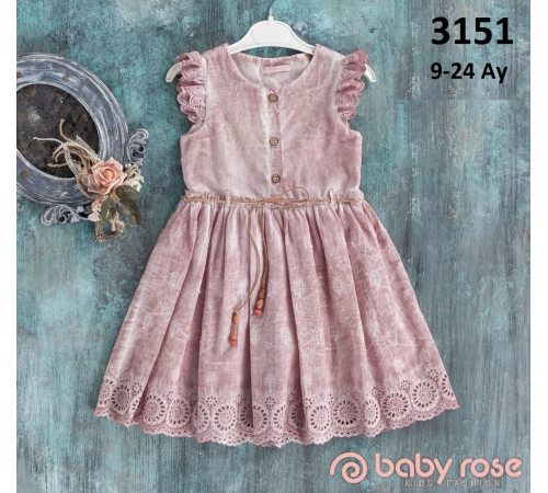 Imbracaminte pentru bebelușii in Moldova babyrose 3151 rochie (9-12-18-24 luni)