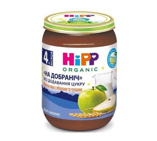hipp 5511 Рисовый молочный десерт с яблоками и грушами (4м+) 190 гр.