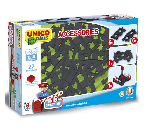 Jucării pentru Copii - Magazin Online de Jucării ieftine in Chisinau Baby-Boom in Moldova androni 8539-0000 elemente de cale ferată unicoplus (22 el.)