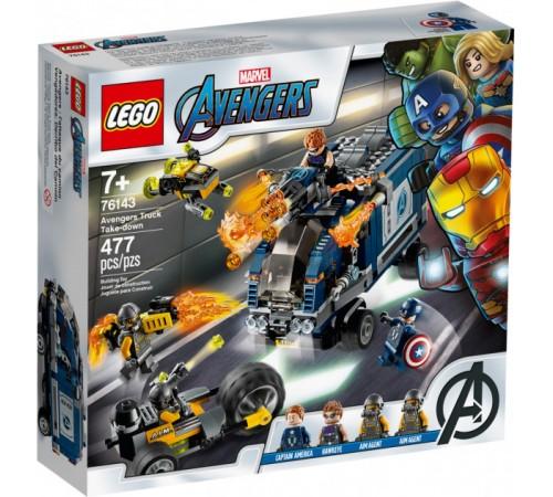 """lego avengers 76143 Конструктор """"Мстители: Нападение на грузовик"""" (477 дет.)"""