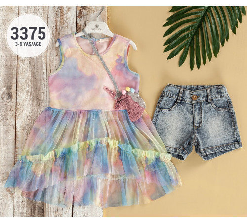 Одежда для малышей в Молдове babyrose 3375 Комплект из 2 единиц (3-4-5-6  лет.) в асс.