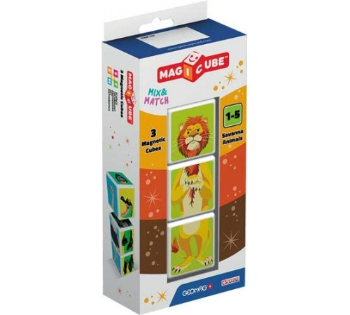 """geomag 109 Магнитные кубики """"magicube"""" Животные Саванны (3 шт.)"""