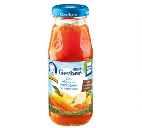 Детское питание в Молдове gerber сок яблочно-морковный 175 ml (20099098