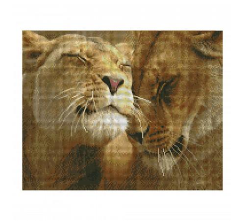 "strateg leo fa10977 mozaic cu diamante ""dragoste de leu"" (40х50 cm.)"