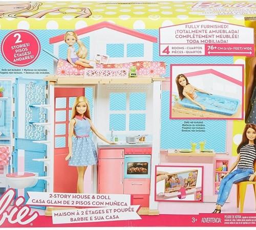 dvv48 Кукла barbie и ее домик