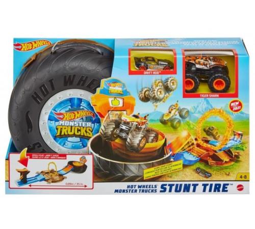 """hot wheels gvk48 Игровой набор """"Трюки в шине"""" серии """"monster trucks"""""""