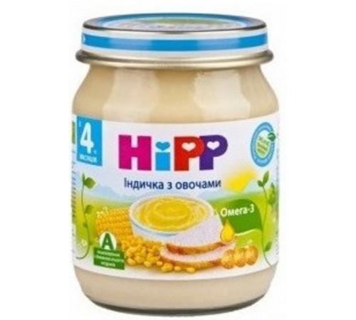 hipp 6203 Сладкая кукуруза с картофелем и индейкой 125 gr.(4m+)