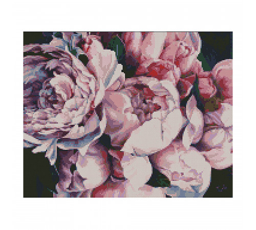 "strateg leo fa11838 mozaic cu diamante  ""bujori roz ""(40x50 cm.)"