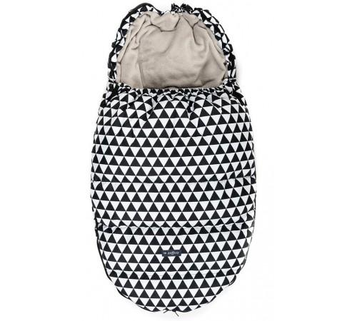 "womar zaffiro sac de dormit ""royal geo"" romb negru/alb"