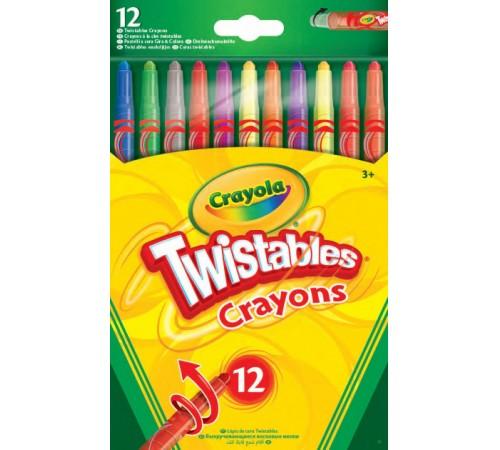 crayola 52-8530 Выкручивающиеся восковые мелки (12 шт.)