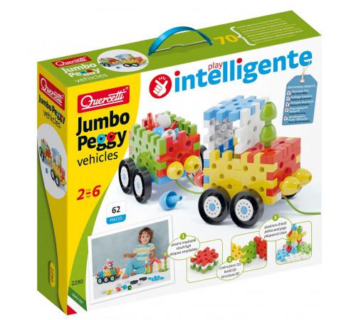 "quercetti 2290 Конструктор ""jumbo peggy vehicles"" (62 дет.)"