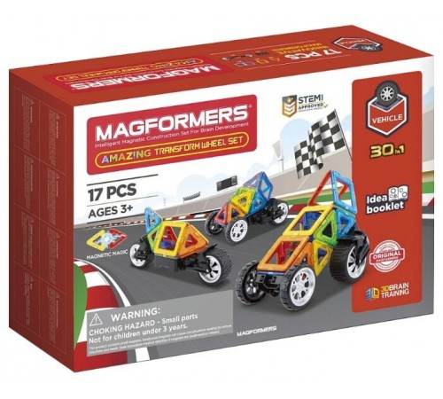 """magformers 707019 Магнитный конструктор """"amazing wheel set"""" (17 эл.)"""