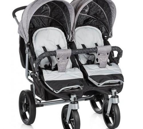 chipolino коляска для двойни twix kbtx01701 серый
