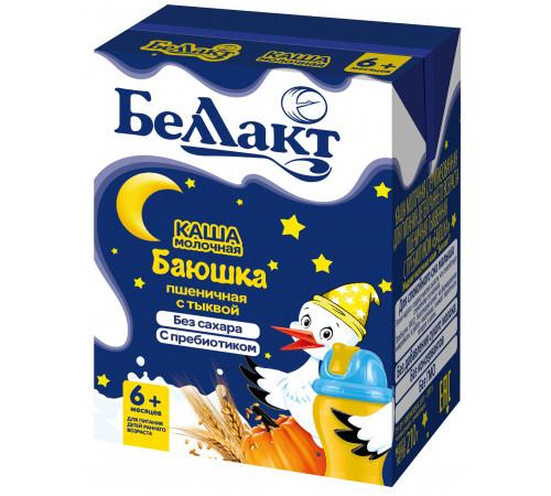 """Беллакт Каша молочная пшеничная с тыквой """"Баюшка"""" с пребиотиком (6 м+) 210 гр."""