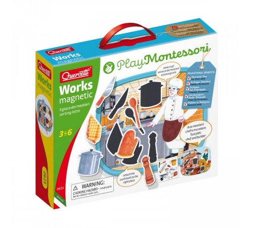 """Детскиймагазин в Кишиневе в Молдове quercetti 623 montessori Игровой набор """"Магнитные Работы"""""""