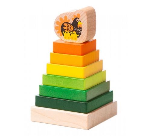 """Детскиймагазин в Кишиневе в Молдове cubika 15276 Деревянная пирамидка """"Башня"""""""