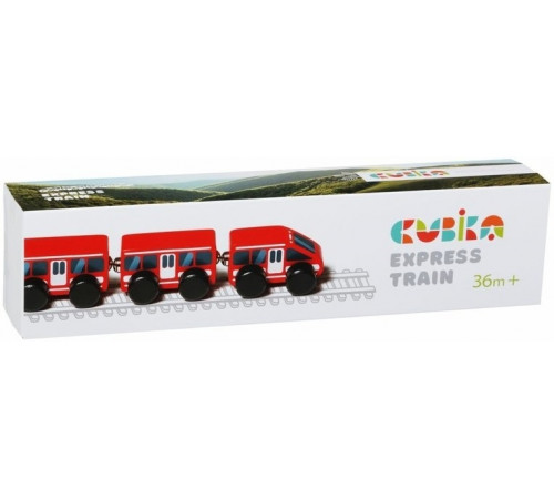"Jucării pentru Copii - Magazin Online de Jucării ieftine in Chisinau Baby-Boom in Moldova cubika 15108 tren din lemn cu magneți ""express"""