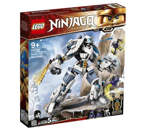 """lego ninjago 71738 Конструктор """"Битва с роботом Зейна"""" (840 дет.)"""