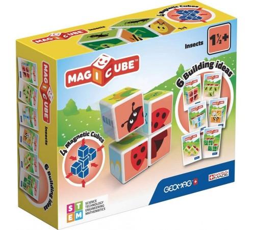 """geomag 121 Магнитные кубики """"magicube"""" Насекомые (4 шт.)"""