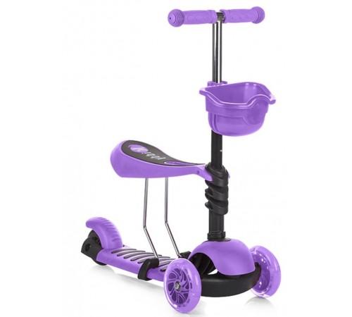 chippolino Самокат kiddy dski01705pu фиолетовый