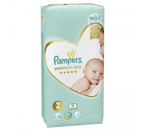 pampers premium care 2 (4-8 кг.) 50 шт.