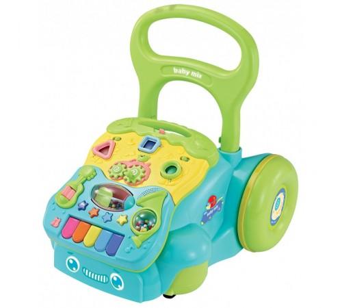 baby mix gw-6218a Ходунки с игровым центром голубой