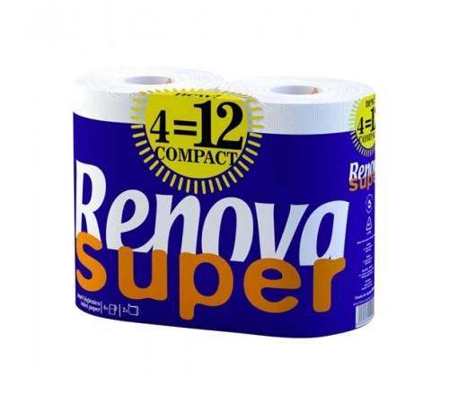 renova Бумага гигиеническая super compact (4) белая 8016681