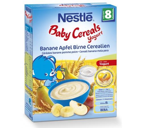 nestle Каша пшеничная йогуртная с  бананом яблоком и грушей (8+) 250 гр.