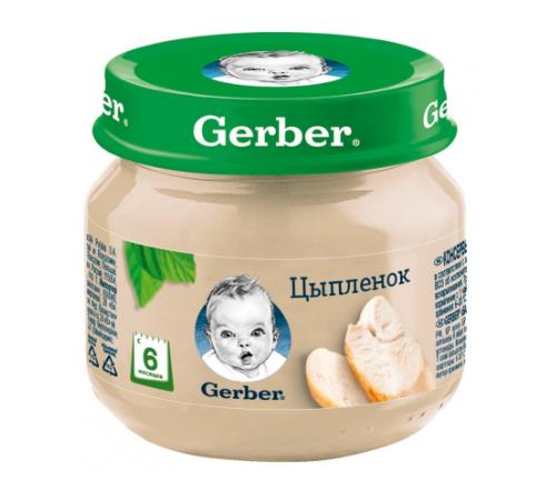gerber Пюре Цыплёнок 80 гр. (6m+)