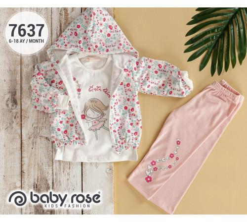 Одежда для малышей в Молдове babyrose 7637 Комплект из 3 единиц (6-9-12-18 мес.)