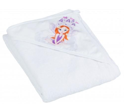 """tega baby prosop cu glugă """"princesa"""" lp-008-103 (100х100 cm.) alb"""