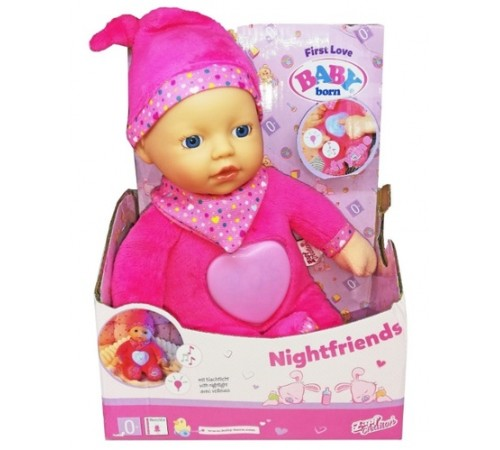 zapf creation 824061 Интерактивная кукла baby born first love nightfriends (30 см.)