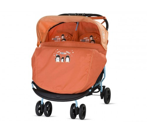 cărucior chipolino pentru gemeni mandy 00010 portocaliu