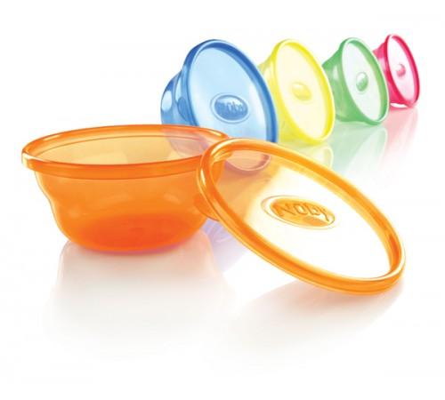 Детское питание в Молдове nuby id91164 Набор контейнеров-тарелок с крышками (6х300 мл.)
