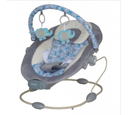baby mix lcp-br245-2 grey Лежачок c музыкой и вибрацией