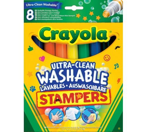 crayola 58-8129 Смываемые фломастеры-штампы (8 шт.)