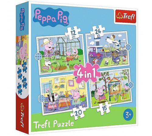 """Jucării pentru Copii - Magazin Online de Jucării ieftine in Chisinau Baby-Boom in Moldova trefl 34359 puzzle 4-în-1 """"vacanță. peppa pig"""" (15.12.2024 el.)"""