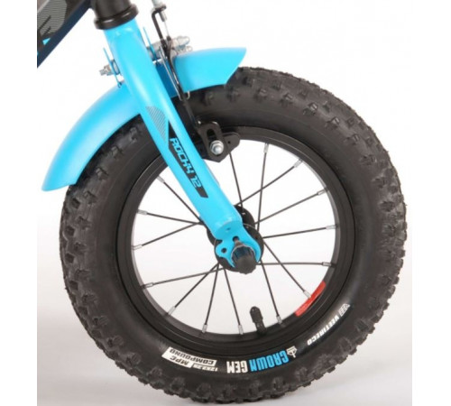 "volare 21272 Велосипед 12 ""rocky prime collection"" синий/чёрный"