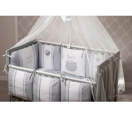 """dormi baby  постельное белье """"Зайчик"""" серый (6 единиц)"""