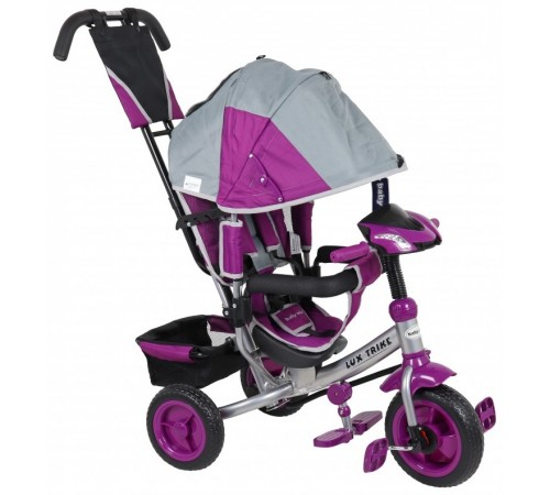 baby mix ur-xg6519t16g/v Трицикл lux серо-фиолетовый