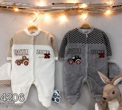 Одежда для малышей в Молдове twetoon baby Комбинезон с шапочкой, велюр 114206