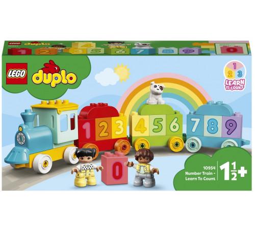 """lego duplo 10954 Конструктор """"Поезд с цифрами-учимся считать"""" (23 дет.)"""