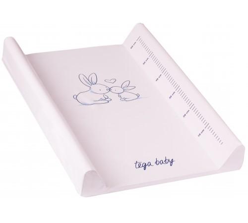 "tega baby Пеленальник ""Кролики"" kr-009-104 розовый"