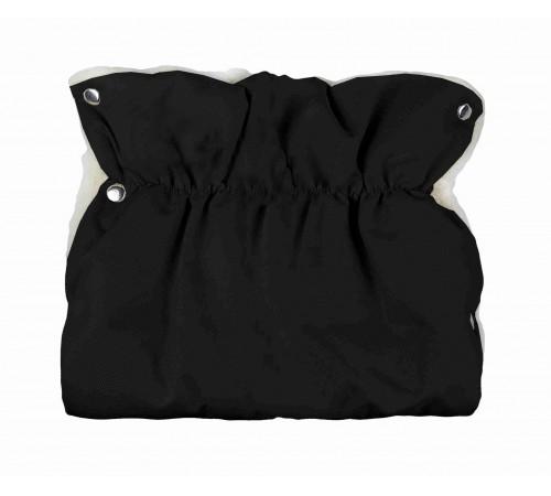 womar Рукавички для коляски шерстяные слитные черные