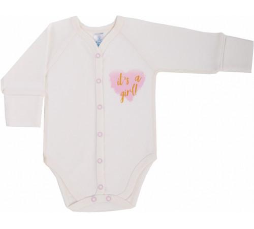 """Одежда для малышей в Молдове veres 102.81-13.56 Боди """"shimmer girl"""" (интерлок) р.56"""
