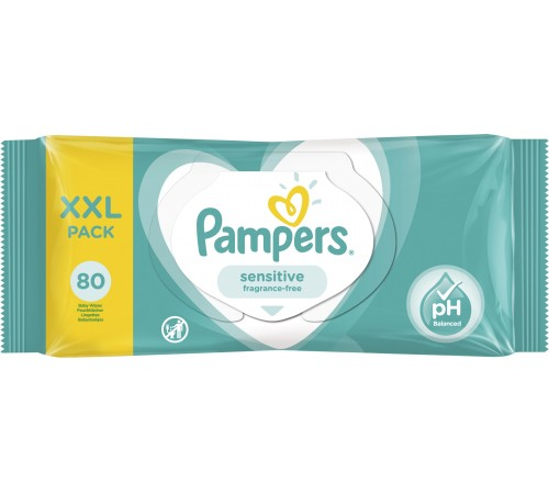 pampers servetele umede sensitive 80buc  7391
